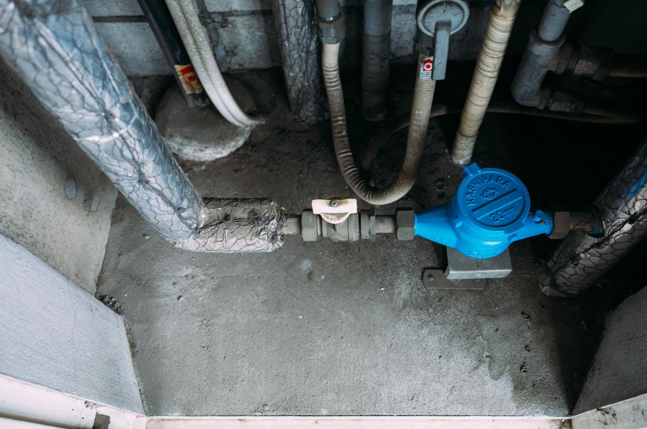 取り外し 栓 分岐 水